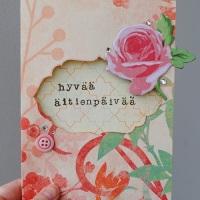 Ruusuinen äitienpäiväkortti