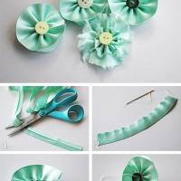 Tutoriaali: kukat silkkinauhasta
