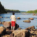 Kalastamassa Ivalossa