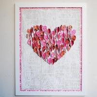 Sydäntaulu paperisydämistä